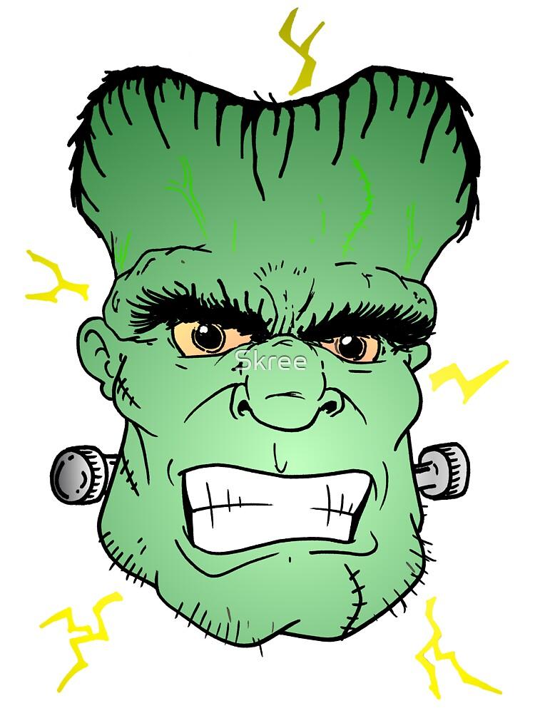 Frankenstein Head by Skree