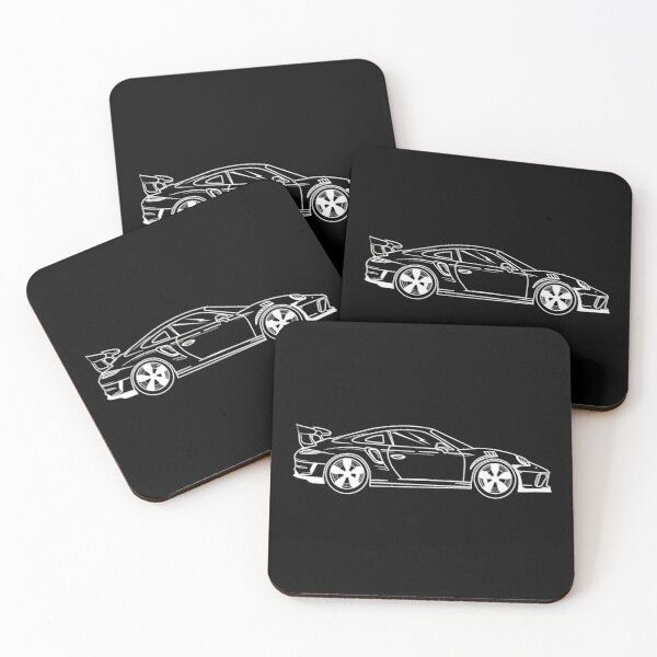 Porsche GT3 RS Coasters (Set of 4)