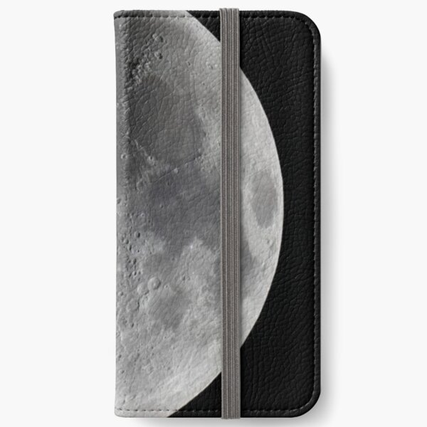 "Quarter moon or half moon?  People sometimes look up and say: ""Is that a half moon in the sky?""  iPhone Wallet"