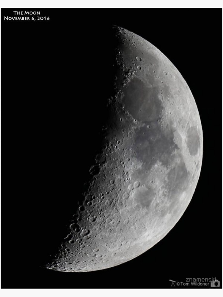 """Quarter moon or half moon?  People sometimes look up and say: """"Is that a half moon in the sky?""""  by znamenski"""