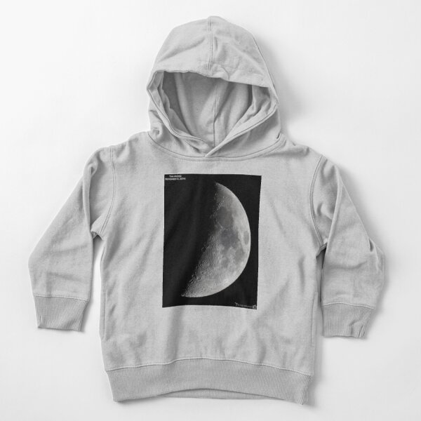 """Quarter moon or half moon?  People sometimes look up and say: """"Is that a half moon in the sky?""""  Toddler Pullover Hoodie"""