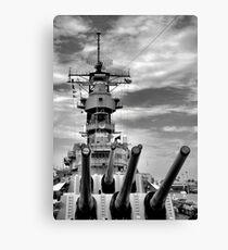 USS Missouri Guns  Canvas Print