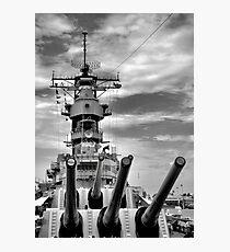 USS Missouri Guns  Photographic Print
