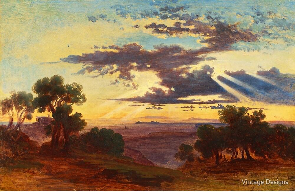 Sunset landscape by Vintage Designs