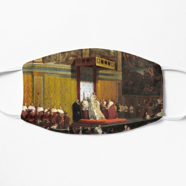 Jean-Auguste-Dominique Ingres Pope Pius VII in the Sistine Chapel Flat Mask