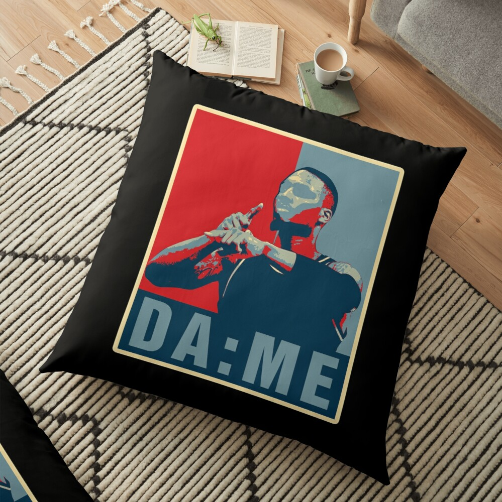 DAME TIME OBAMA STYLE Floor Pillow