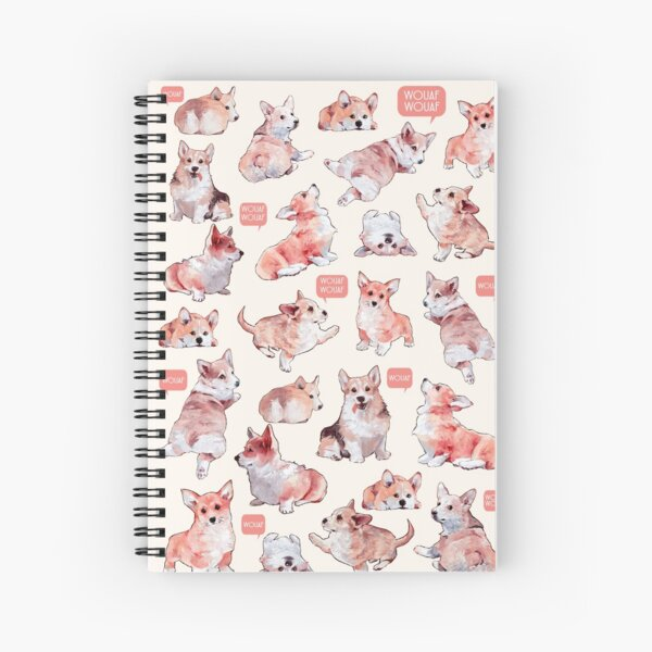french corgis Spiral Notebook