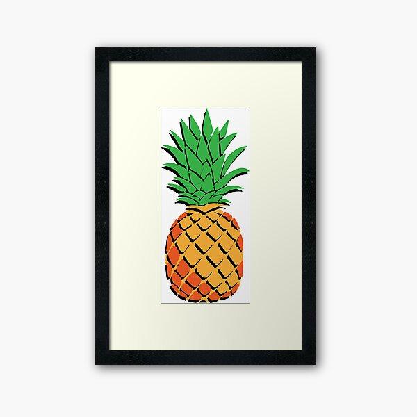 one Pineapple Framed Art Print