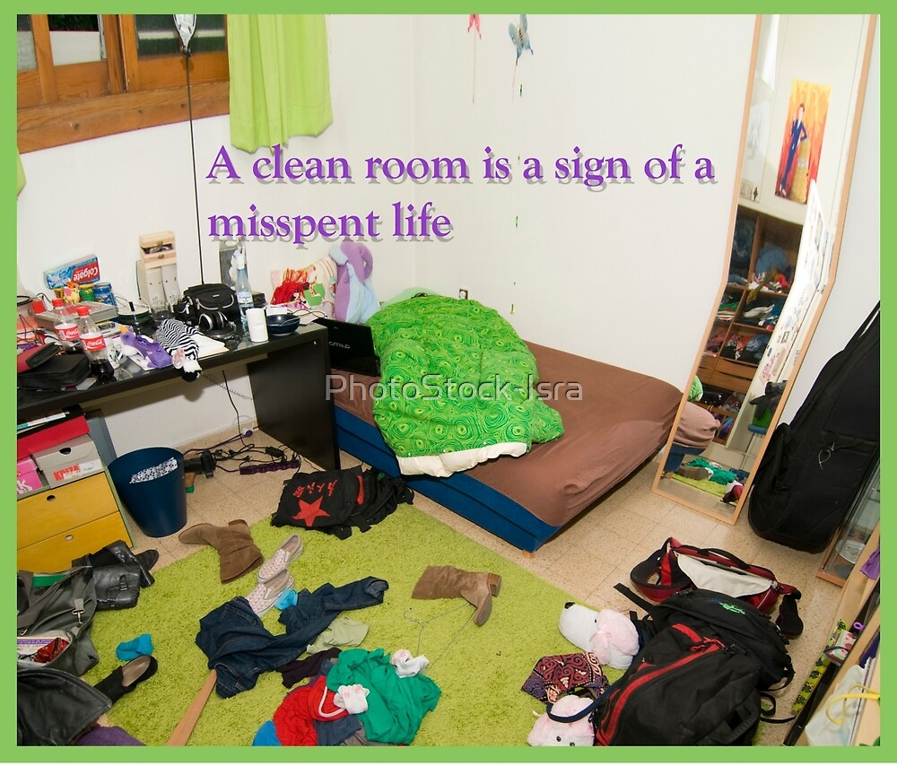 A clean room is a sign of a misspent life.  by PhotoStock-Isra
