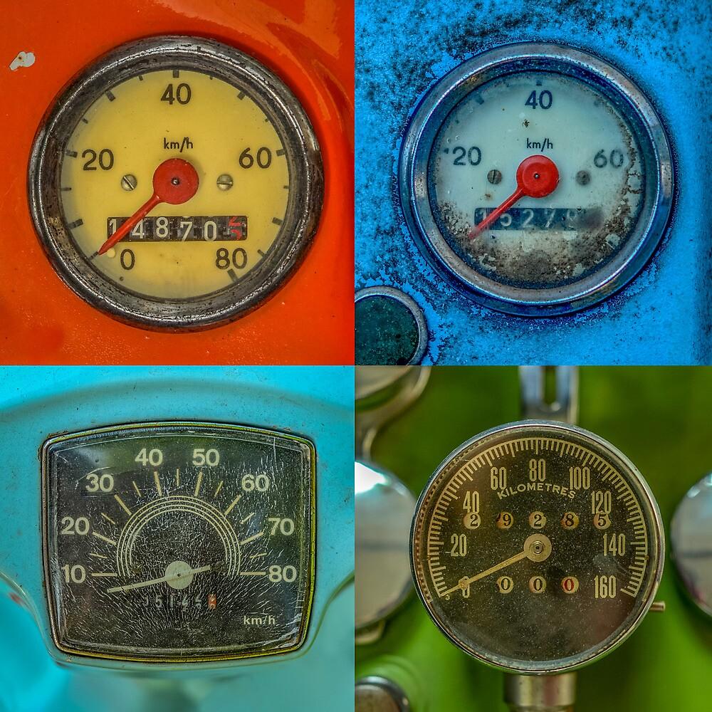 Vintage Speedometers by mrdoomits