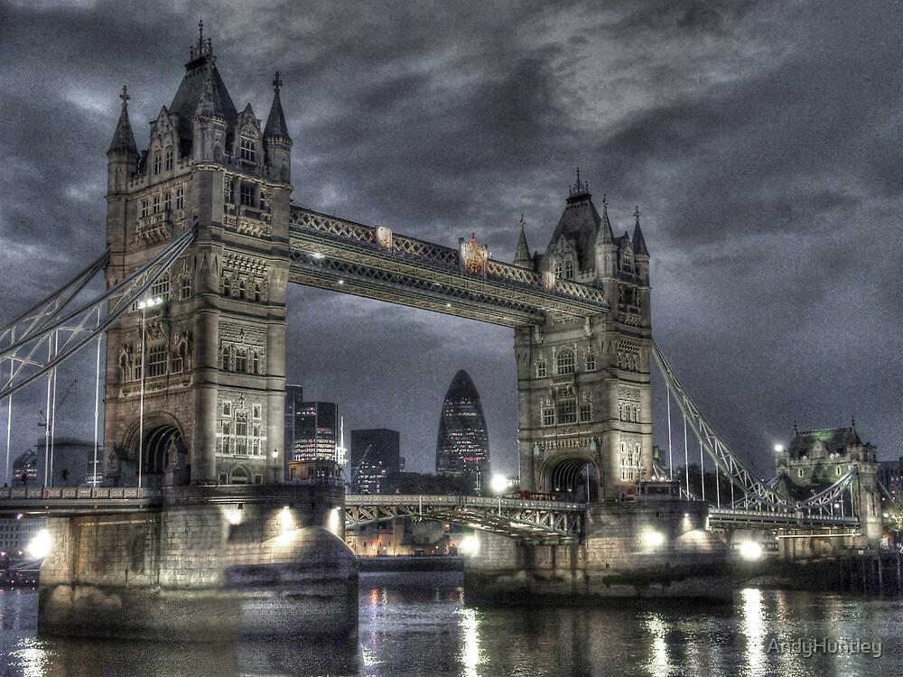 Tower Bridge at Night by AndyHuntley