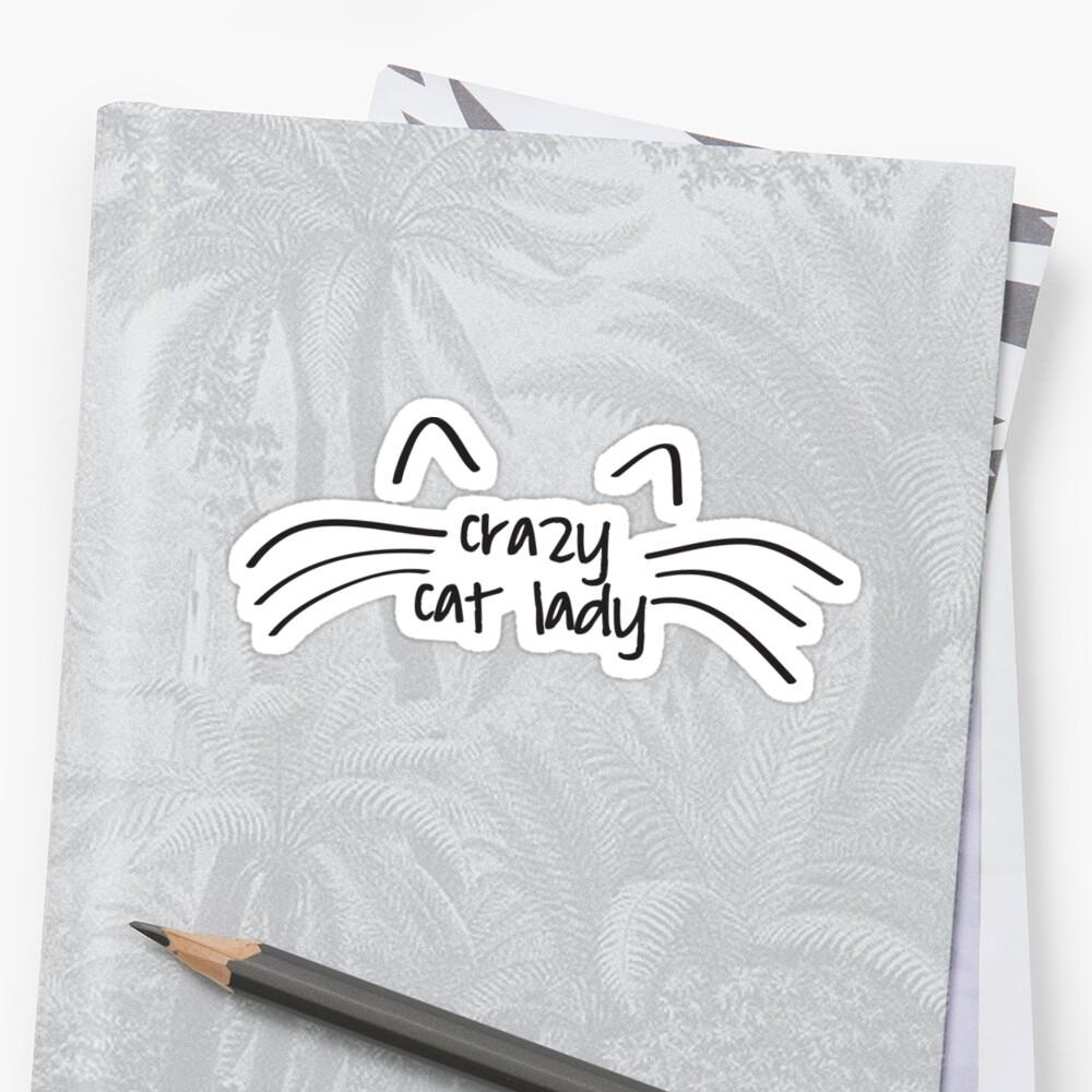 Cat Lady Pegatina