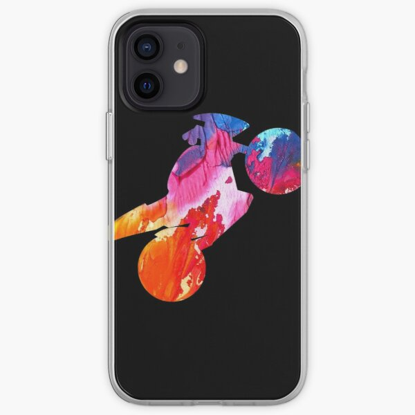 Colored Motorcycle  iPhone Soft Case