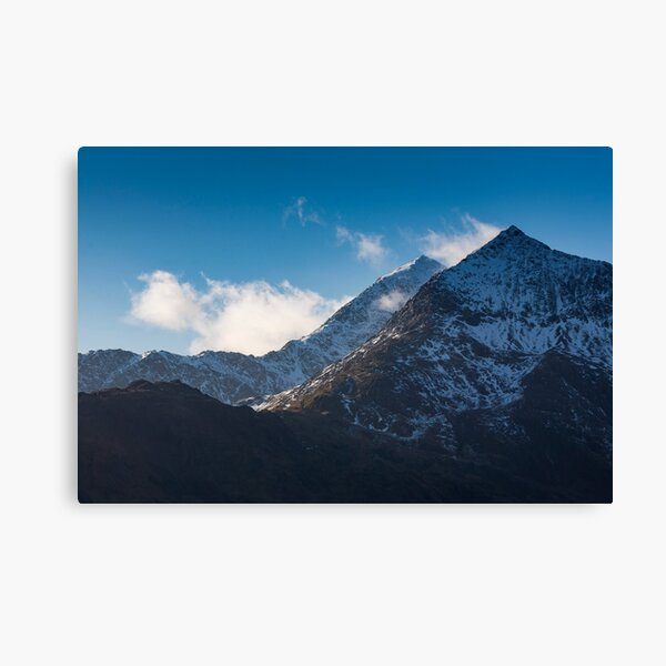 Snowdon & Crib Goch Winter Canvas Print