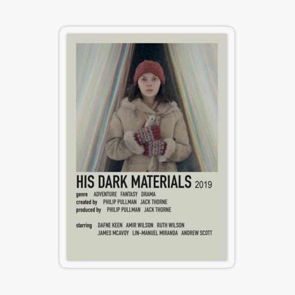 Ses matériaux sombres Polaroid Poster Sticker transparent