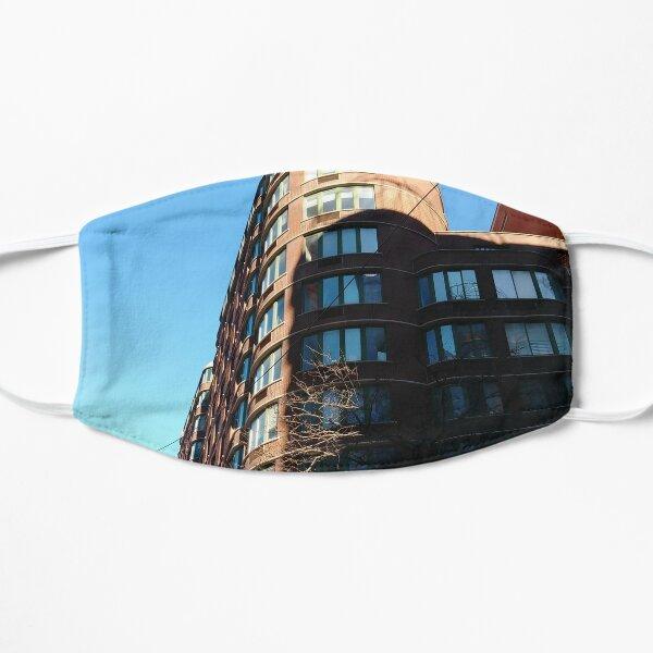 New York City, Manhattan, New York, downtown, #NeeYorkCity, #Manhattan, #NeeYork, #downtown, #buildings, #streets, #avenues, #skyscrapers, #cars, #pedestrians Flat Mask
