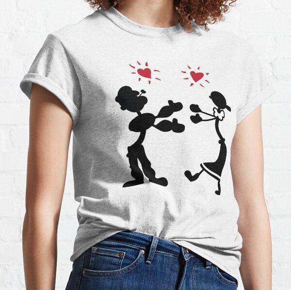 Camisas ICONIC Rachel Green - Popeye y Olive Oyl Camiseta clásica