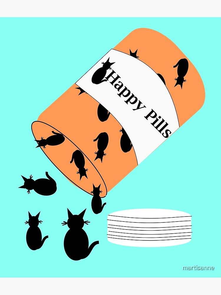 Cat Happy Pills by martisanne