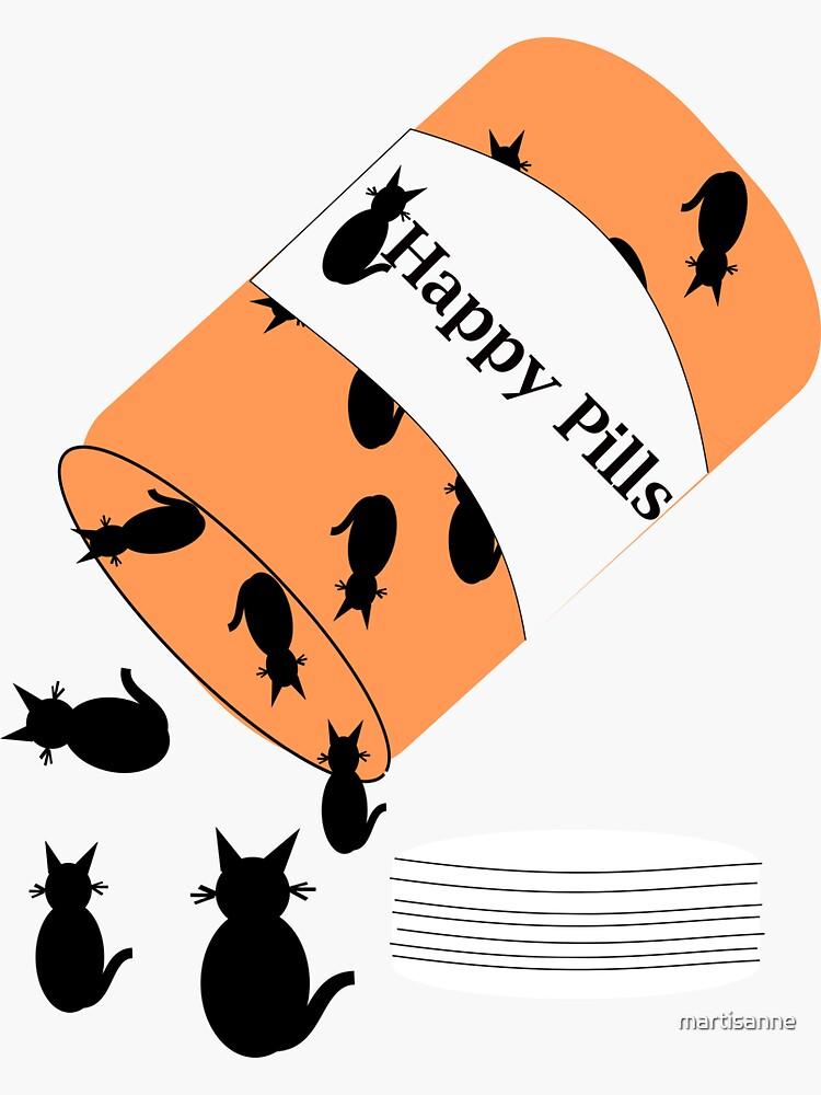 Cat Happy Pills by martisanne