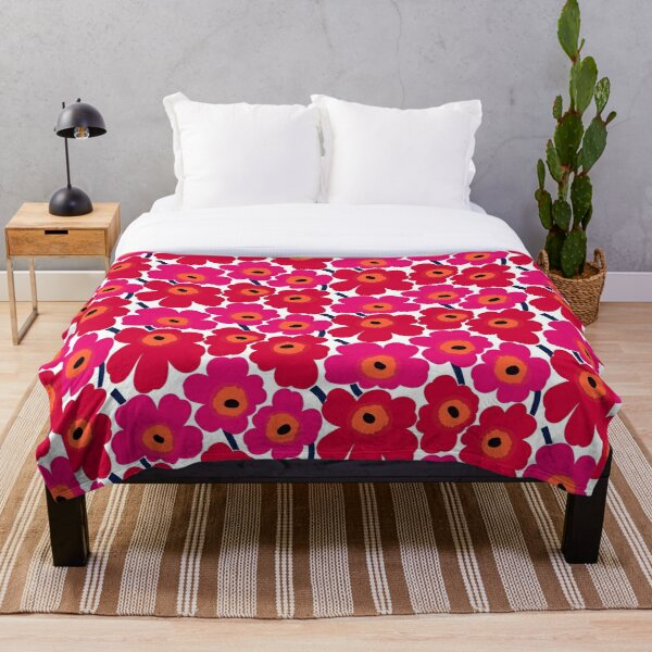 Marimekko Floral design  Throw Blanket