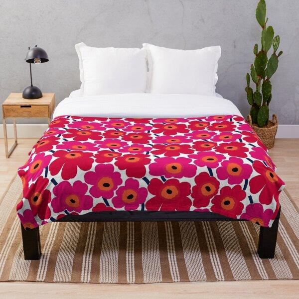 Marimekko Floral design  Throw Blanket