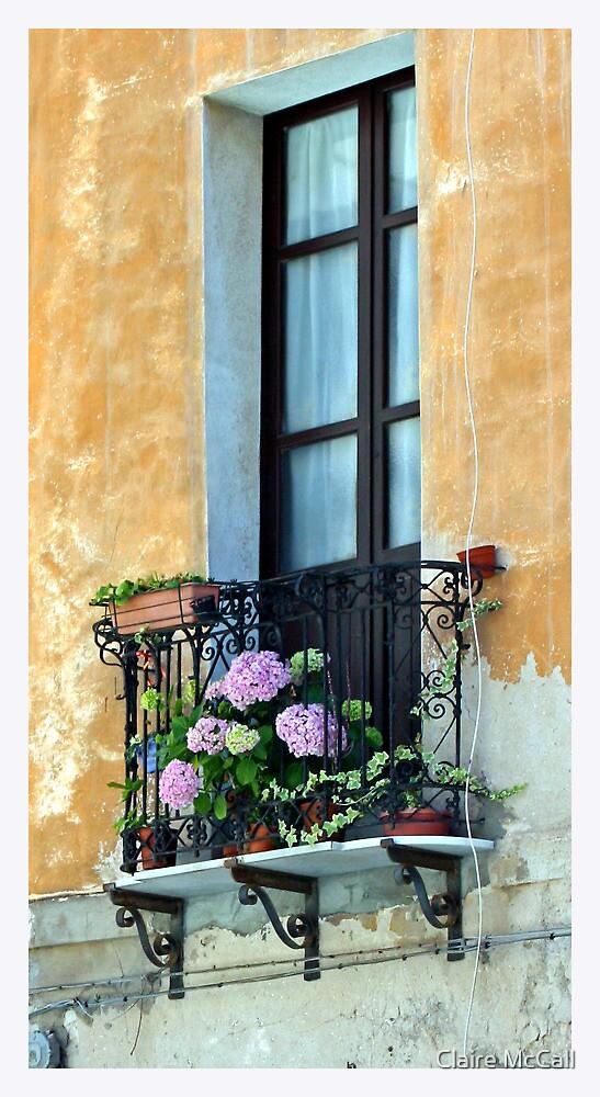 Window Terrace, Cagliari, Sardinia by Claire McCall