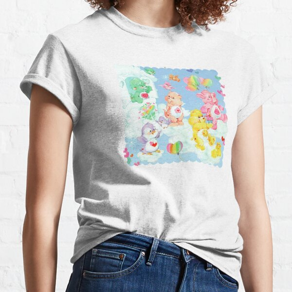CARE CLASSIC BEARS family 90S 80S RAINBOW Y2K 2000S nostalgia print Classic T-Shirt