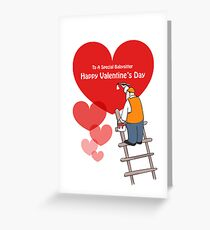 Valentine's Day Babysitter Cards, Red Hearts, Painter Cartoon  Greeting Card