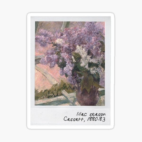 cassatt - lilac season Sticker