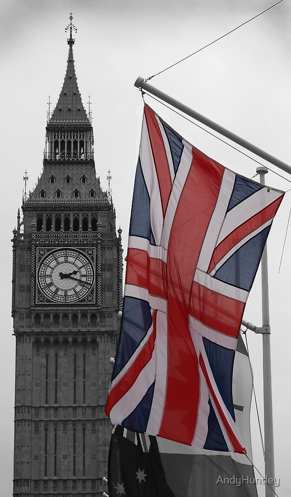 Union Flag & Big Ben by AndyHuntley