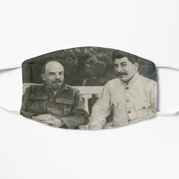 Heavily #retouched #photograph of #Stalin and #Lenin Mask
