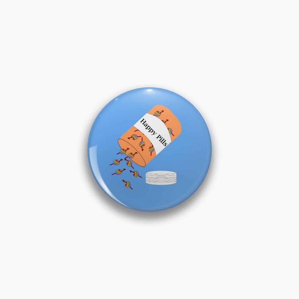 Crochet Happy Pills Pin