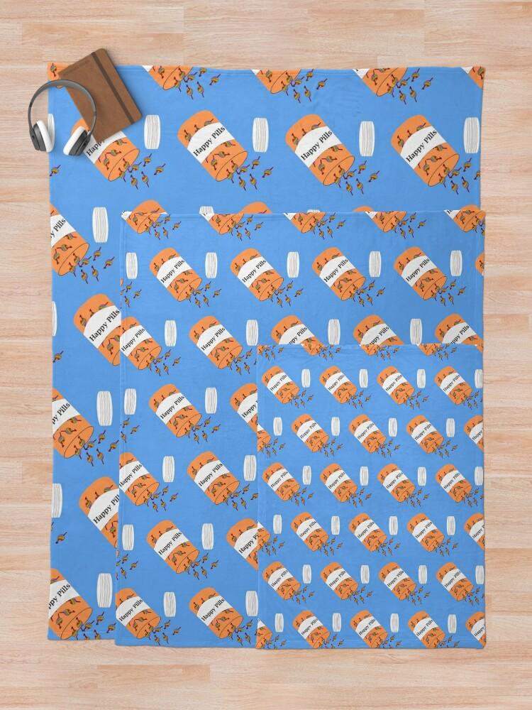 Alternate view of Crochet Happy Pills Throw Blanket