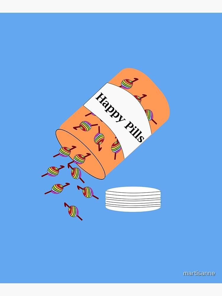 Crochet Happy Pills by martisanne