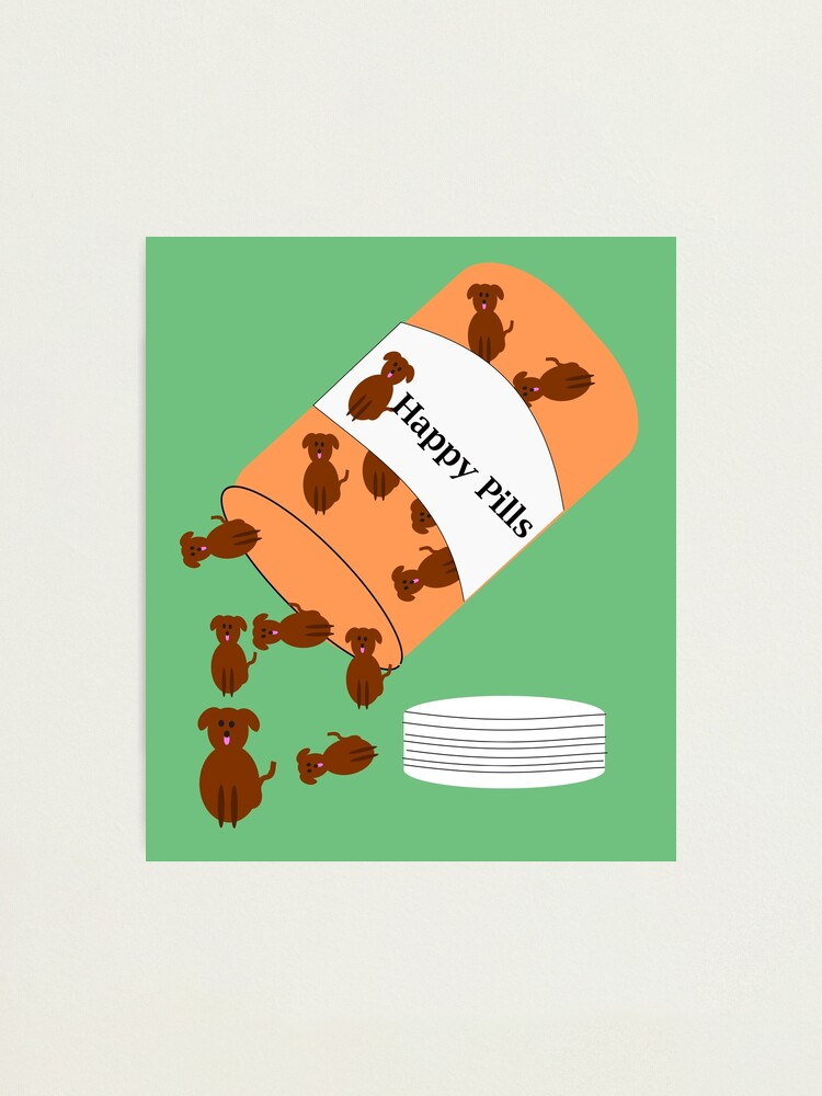 Alternate view of Doggy happy pills Photographic Print