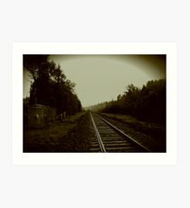 Tracks in Parry Sound Art Print