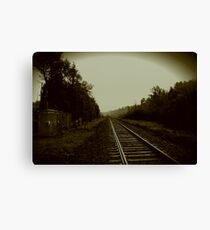 Tracks in Parry Sound Canvas Print
