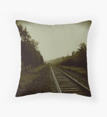 Tracks in Parry Sound Throw Pillow