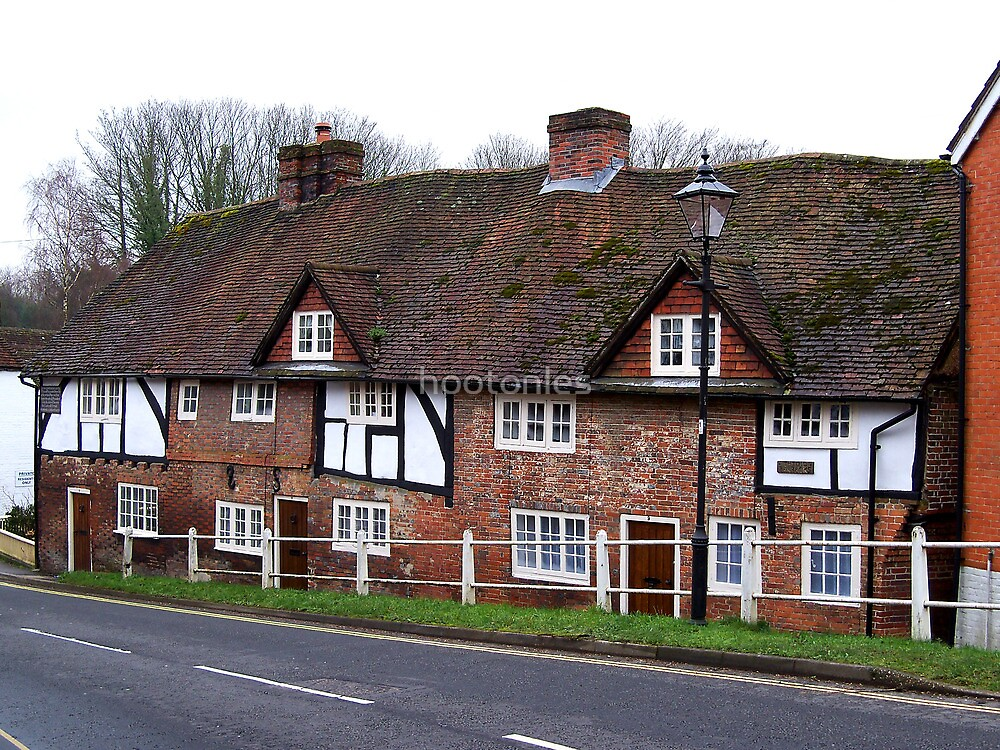 Cottages in the Village of Wickham  by hootonles