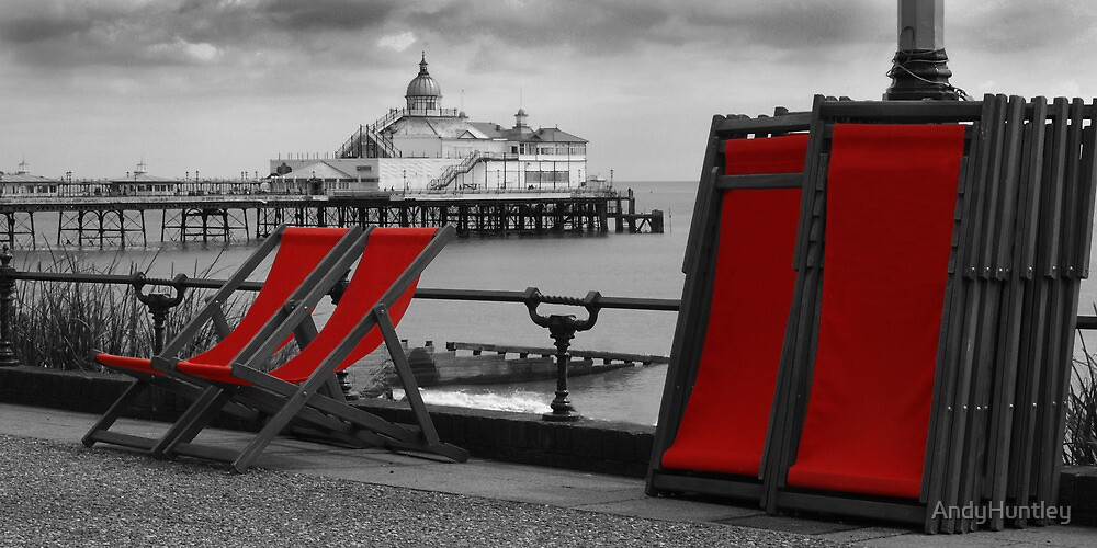 Deckchairs by the Sea by AndyHuntley