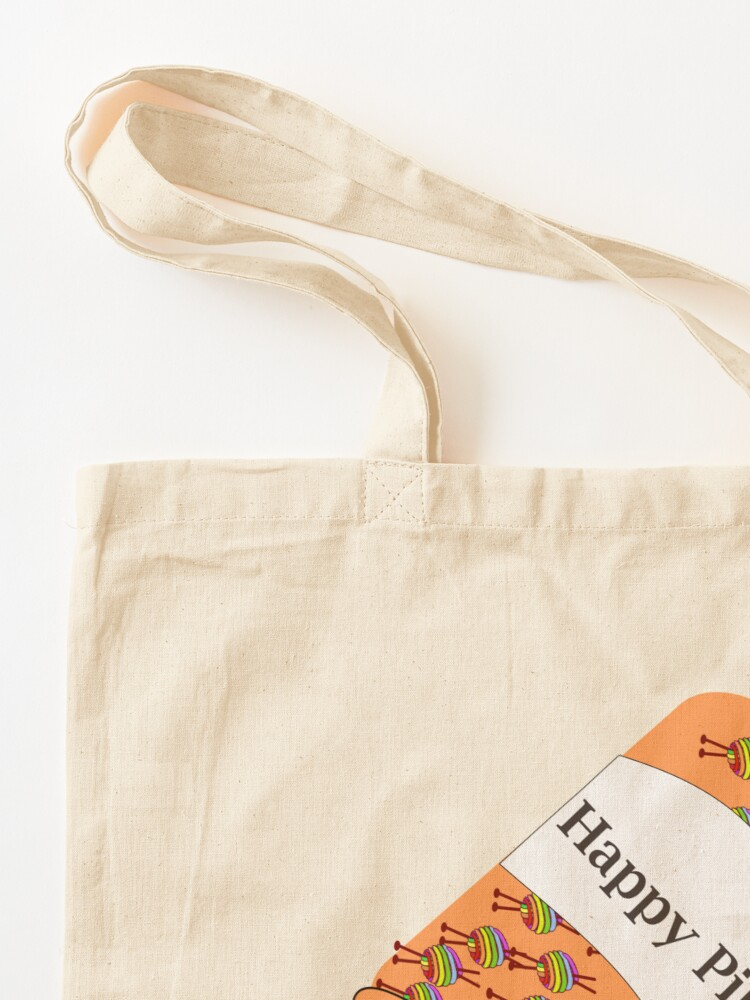 Alternate view of Knitting Happy Pills Tote Bag