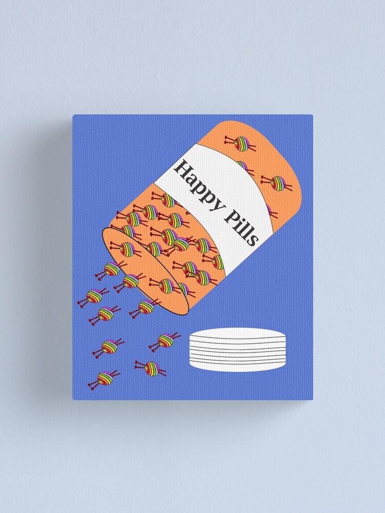 Alternate view of Knitting Happy Pills Canvas Print