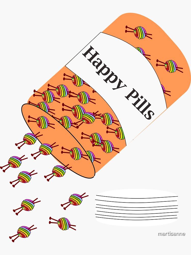 Knitting Happy Pills by martisanne