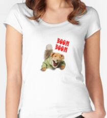 boom boom basil brush Women's Fitted Scoop T-Shirt