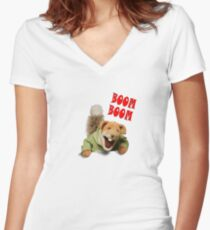 boom boom basil brush Women's Fitted V-Neck T-Shirt