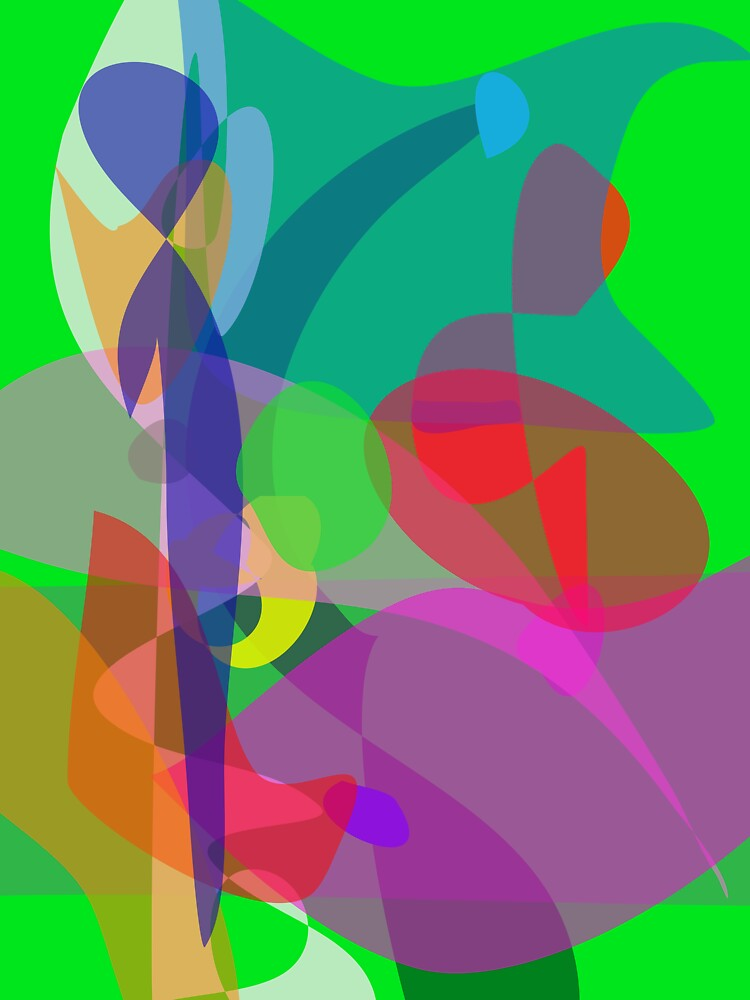 Abstract Painting Green by masabo