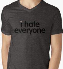 i hate everyone (black text) Mens V-Neck T-Shirt