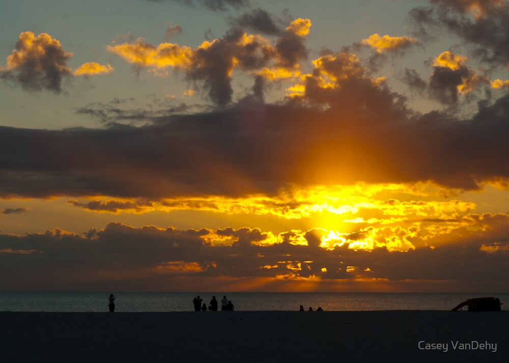 A Silhouette Sunset by Casey VanDehy