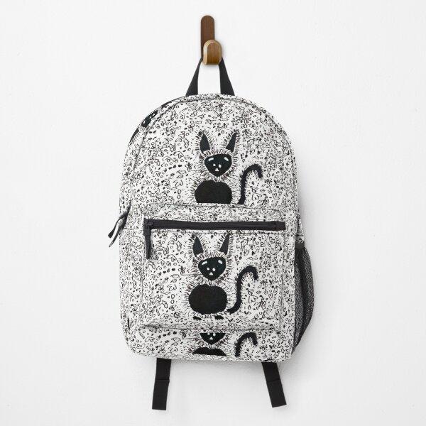 Black Cat Festive Autumn Pal Backpack