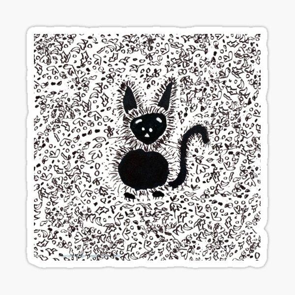 Black Cat Festive Autumn Pal Sticker